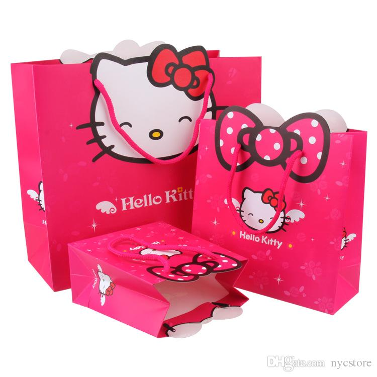 Cm hello kitty style paper bags gift boxes candy
