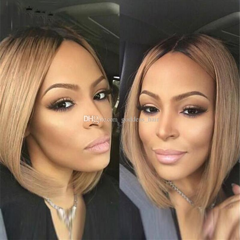 New Arrival Ombre Color 1b 27 Bob Hair Blonde Wigs With