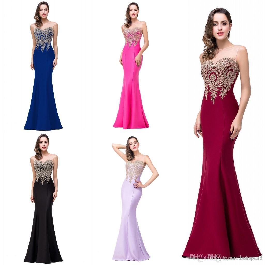 Vestidos 2016 New Arabic Mermaid Lace Evening Dresses with Sheer ...