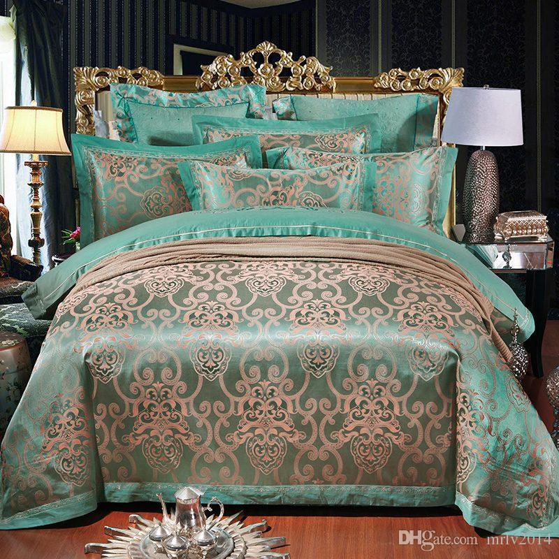 Green 100 Tencel Cotton Jacquard 2017 Wedding Bedding
