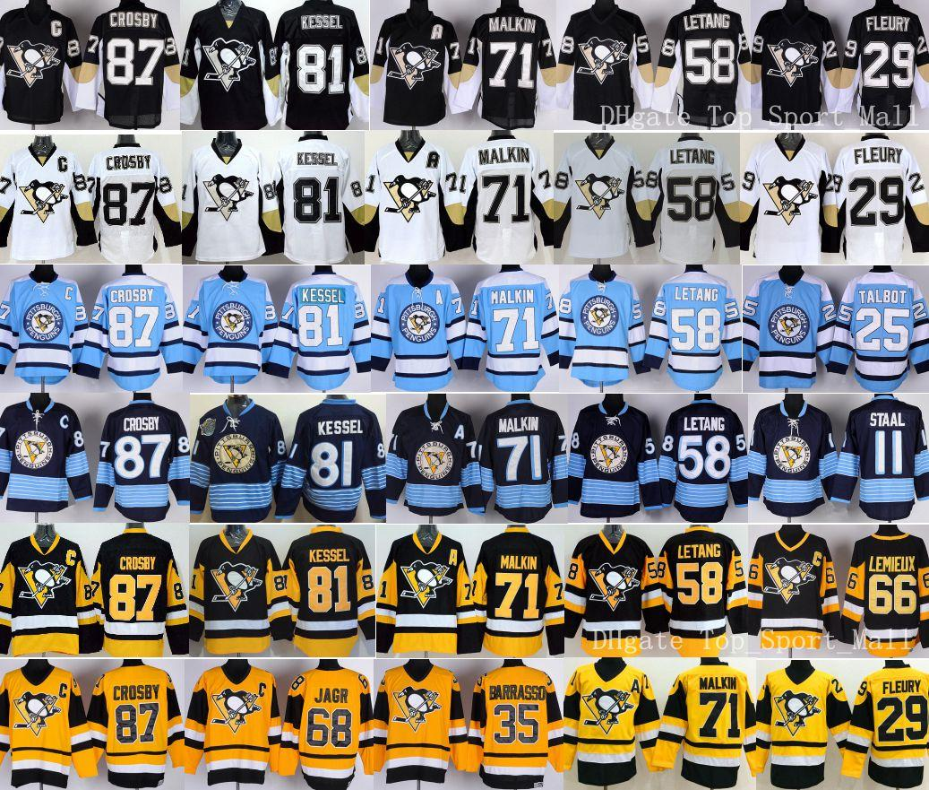 Pittsburgh Penguins 87 Sidney Crosby Maillots Hockey sur glace Remplacement 58 K