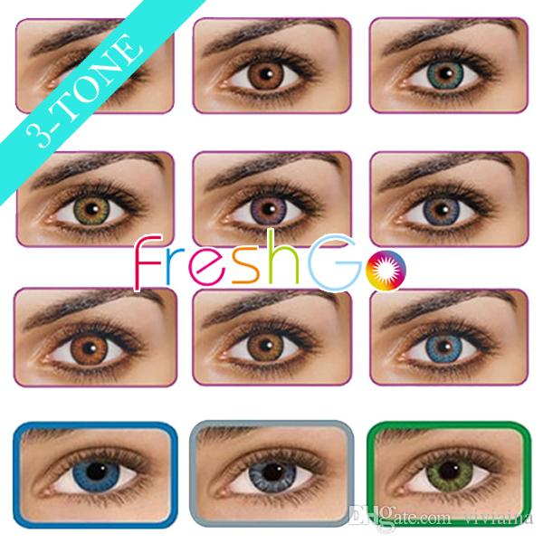 Freshgo Colored Contact Lenses Fresh 3 Tone Eye Contacts ...