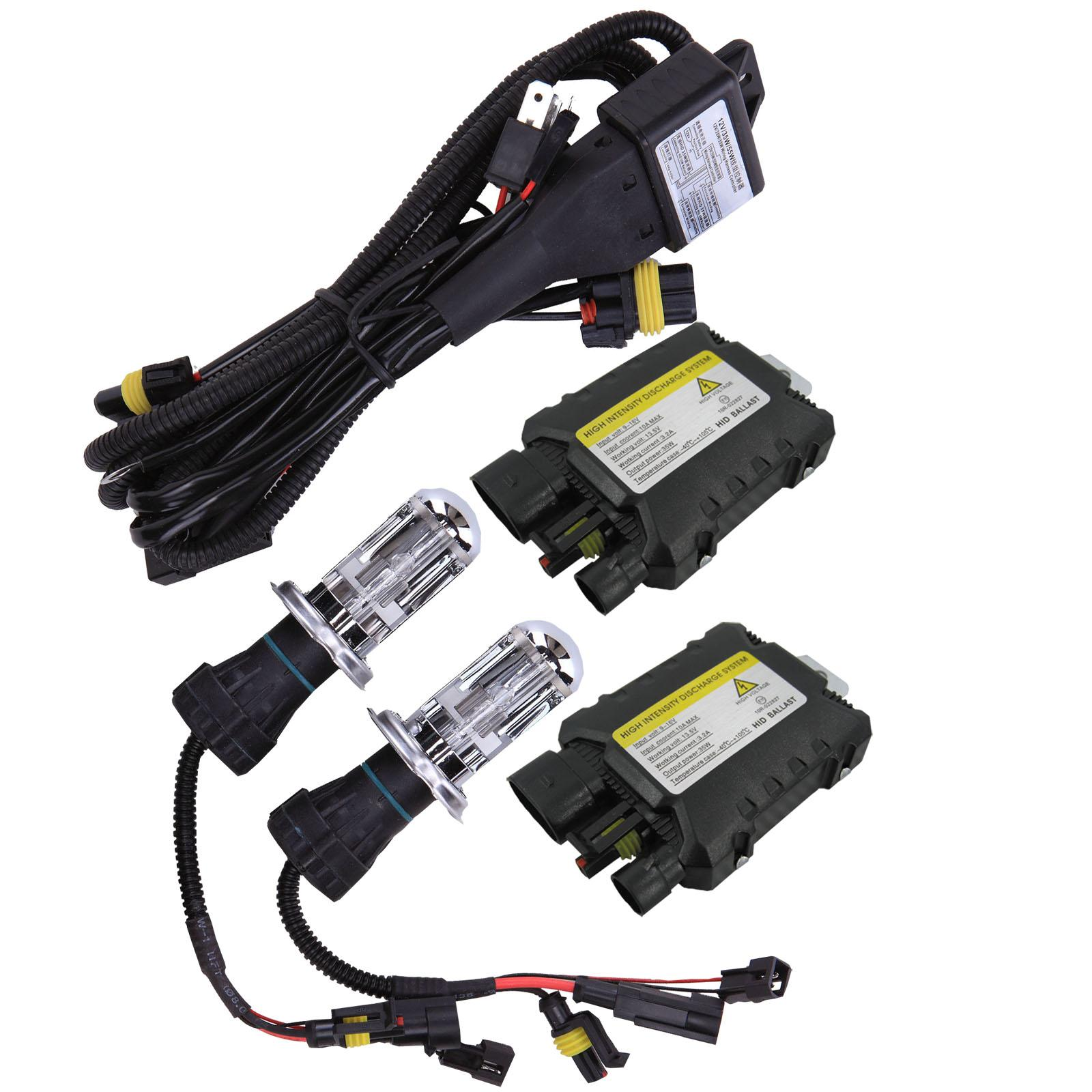 35W H4-3 Bi Hi / Low faisceau Xenon HID Conversion Slim Kit 4300K-12000K