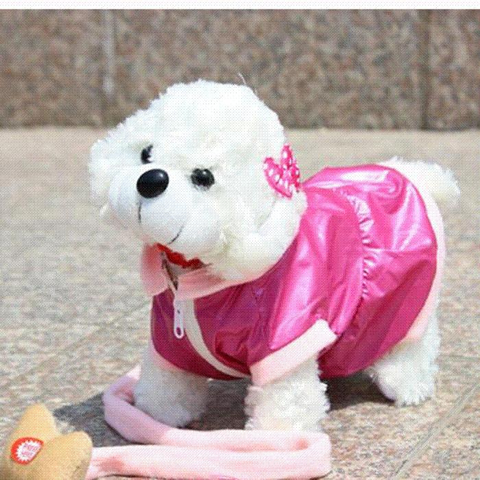 Robotic Electronic Walking Pet Dog Children Toy White Pink