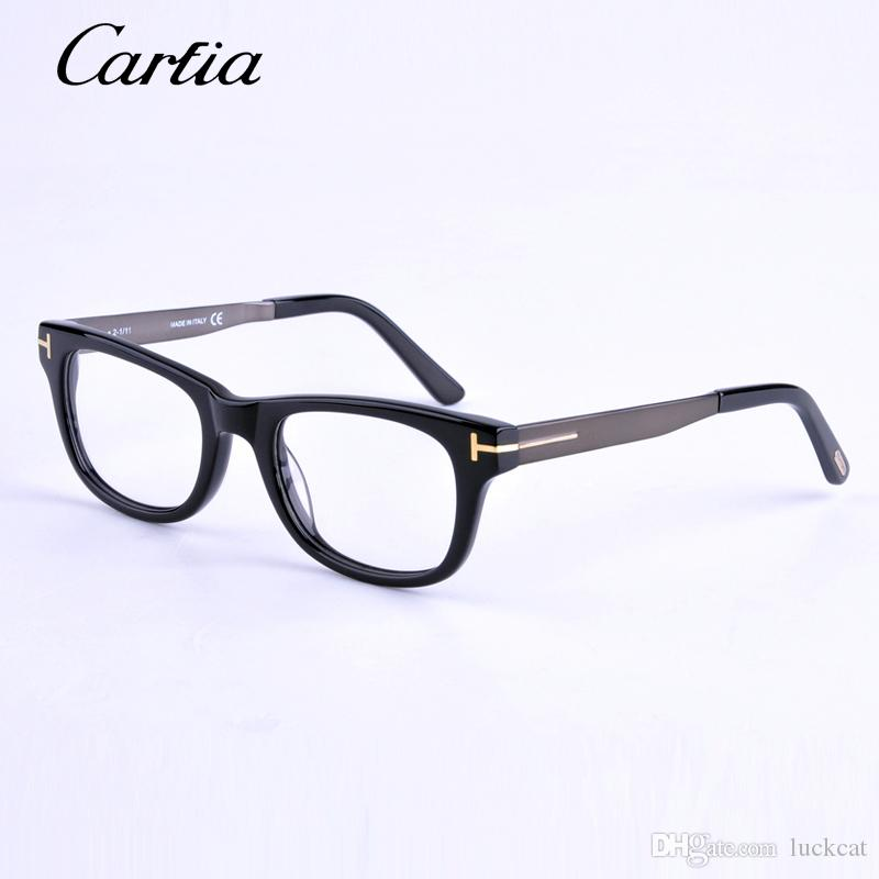 designer glasses frames for women  2017 Brand Designer Eyeglasses Optical Frames Tf 5197 Black ...