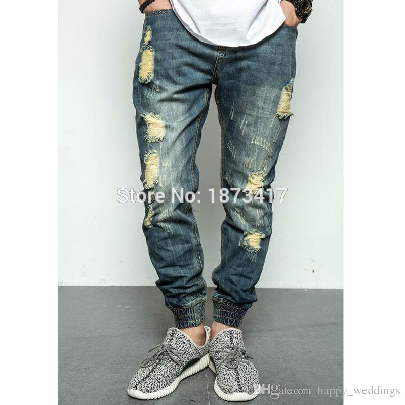 2017 2017 New Fashion Street Mens Destroyed Jeans Hole Casual ...