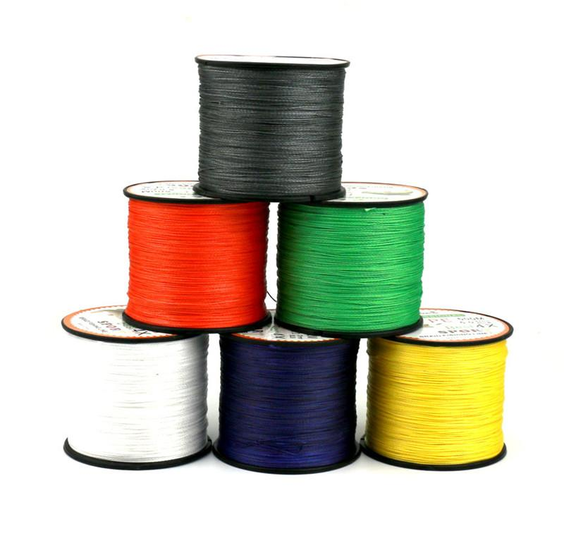 Hot 500m pe spectra braided fishing line 4 strand pe wire for Best saltwater fishing line color