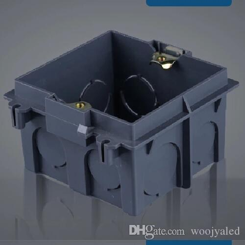 2017 Plastic Wall Plate Wall Mount Junction Box Type 86 Switch Socket Stair Step Light Cassette ...