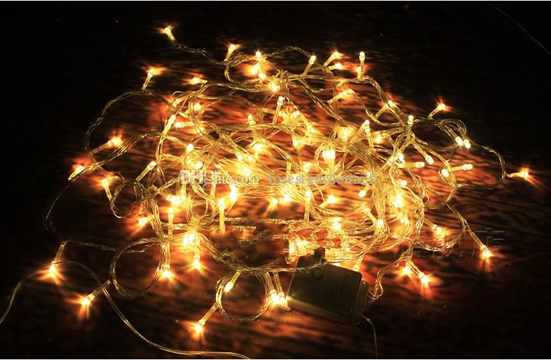 LED Warm Light Lamp String European Christmas Tree Decorative Lamp Christmas Scene Activity ...