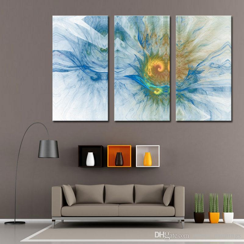 Discount 3 Picture Combination Wall Art E Home Stretched