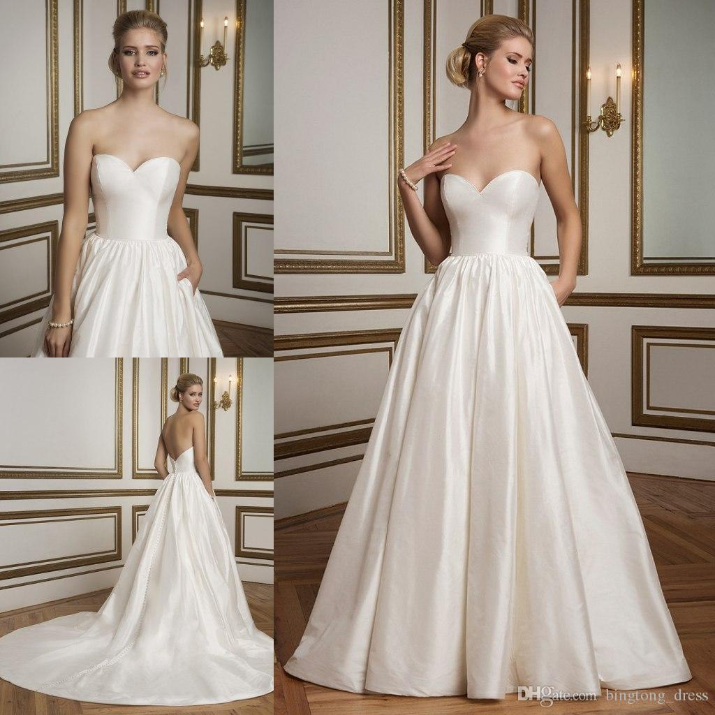 2016 Simple Empire Weddings Dresses Princess Ballgown