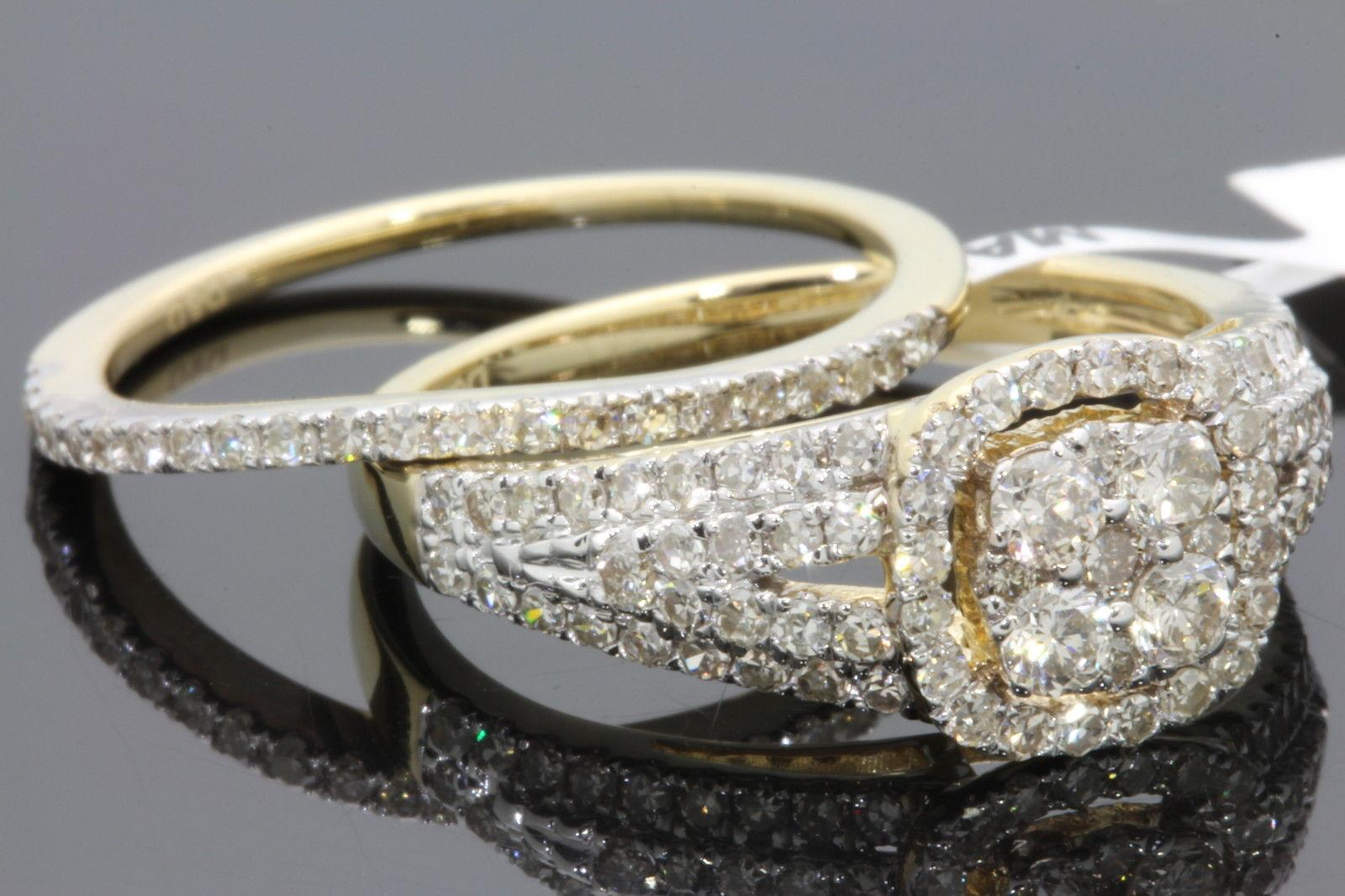 Online Cheap 10k Yellow Gold 127 Womens Real Diamond Engagement