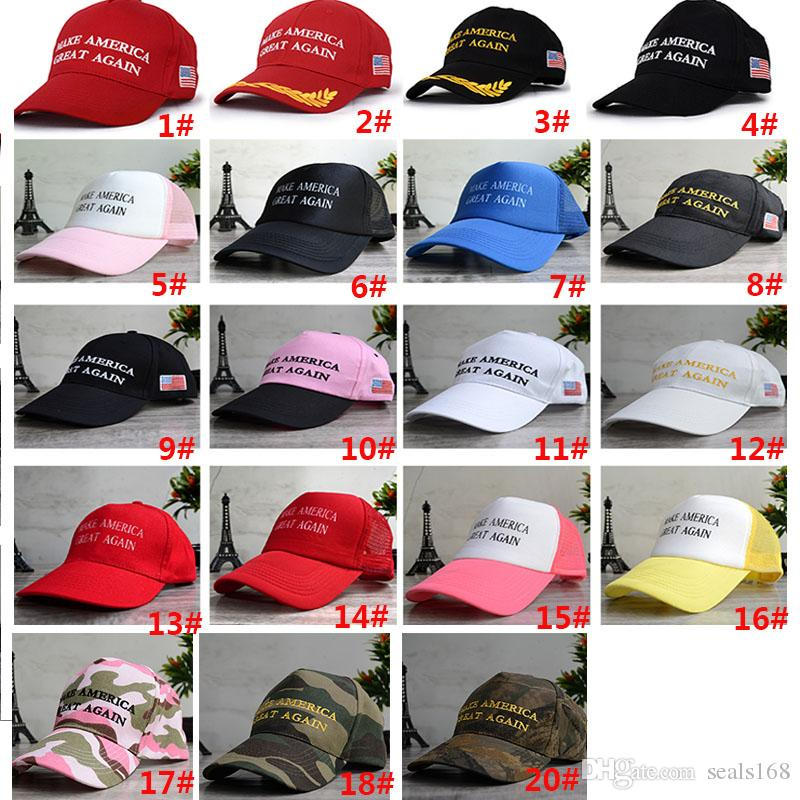DHL Unisex Women Men Make America Great Again Chapeaux de baseball Donald Republ