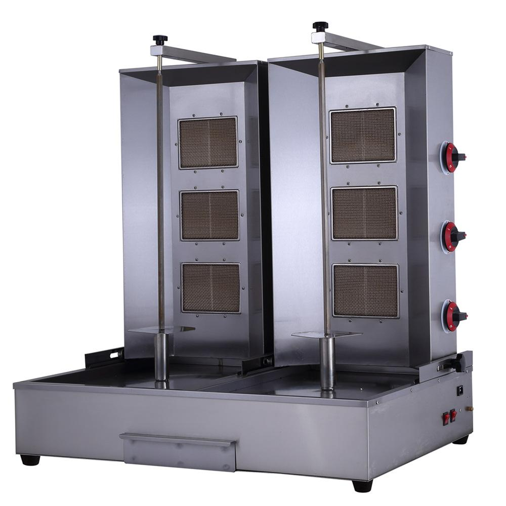2018 double shawarma machine doner kebab machine honeycomb ceramic plate burner machine 220v. Black Bedroom Furniture Sets. Home Design Ideas