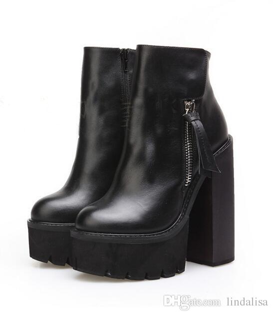 Fashion Platform Wedge Heels Ankle Boots as Jeffrey Campbell Lynch ...
