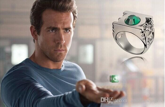 men ring green green lantern emerald engagement wedding ring for men genuine 925 sliver gem stone - Green Lantern Wedding Ring
