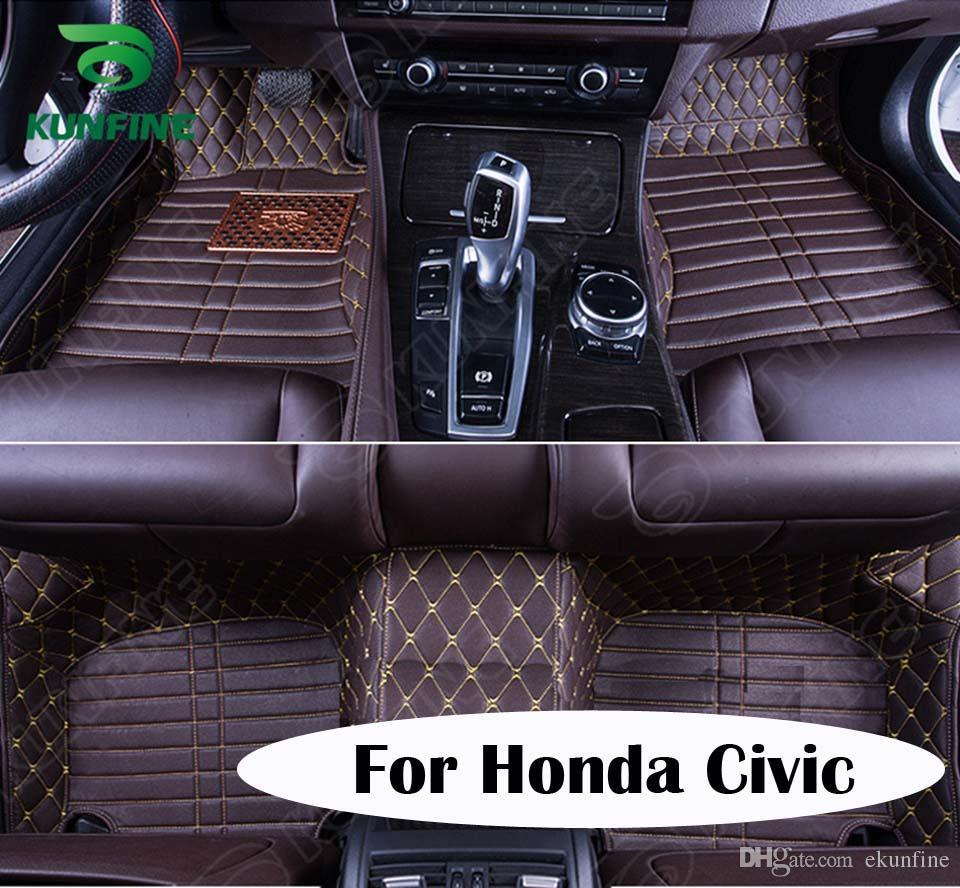 Floor mats for honda civic - Top Quality 3d Car Floor Mat For Honda Civic Foot Mat Car Foot Pad 4 Colors