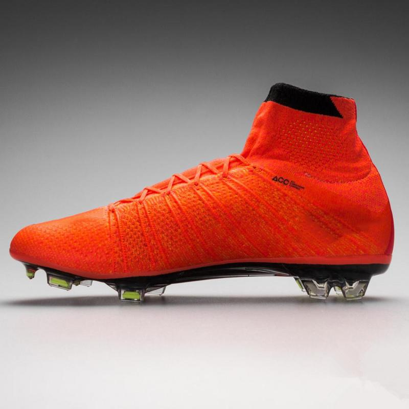 Mercurial Superfly FG Cleats Soccer Shoes Bright Mango Sock-like ...