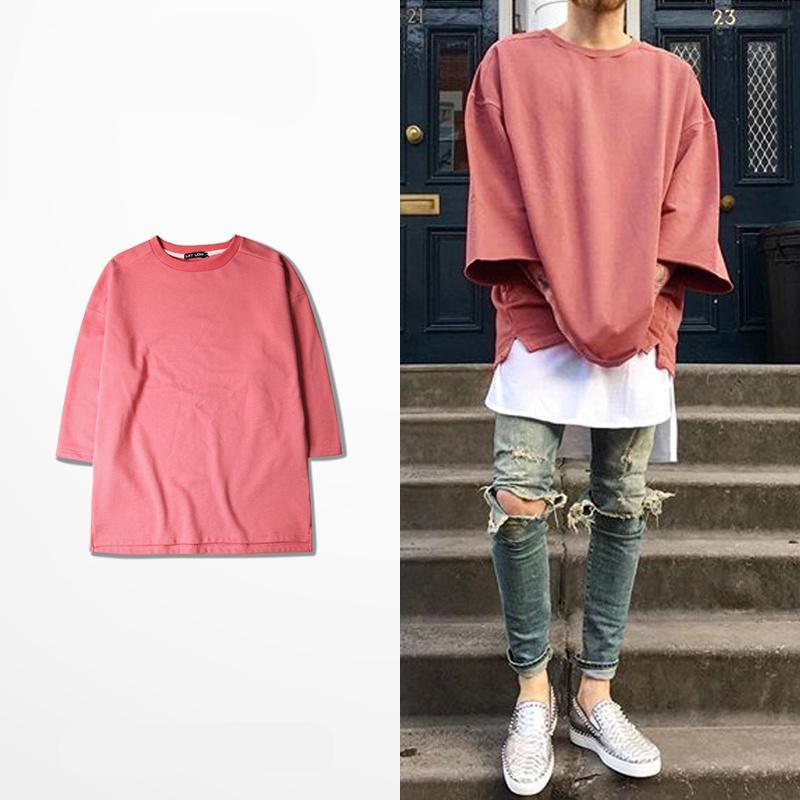 2016 New Half Sleeve T Shirts Oversized Men Tees Homme Kanye WEST ...