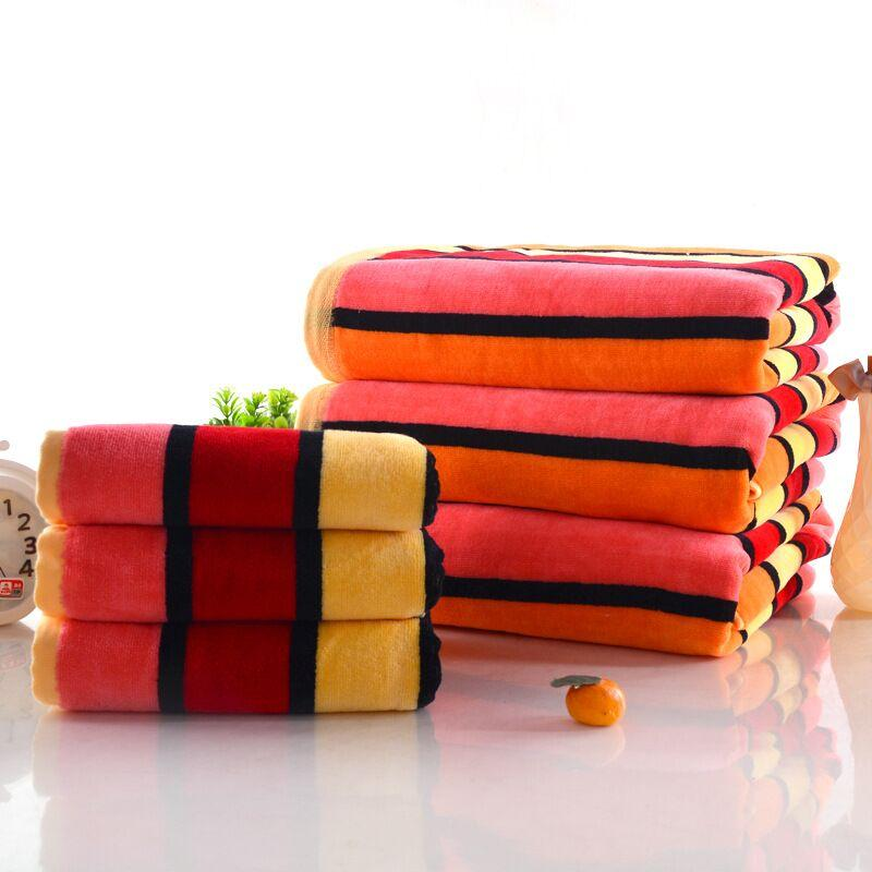 Jzgh 2 3pcs Luxury Cotton Terry Bath Towels Sets For Adults Designer Bathroom Bath