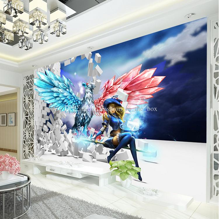 League of legends photo wallpaper 3d game wall mural for Boys mural wallpaper