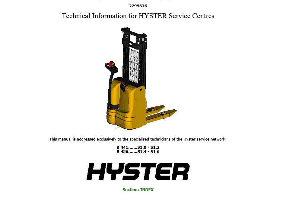 new hyster repair manuals pdf 2016 for full set version. Black Bedroom Furniture Sets. Home Design Ideas