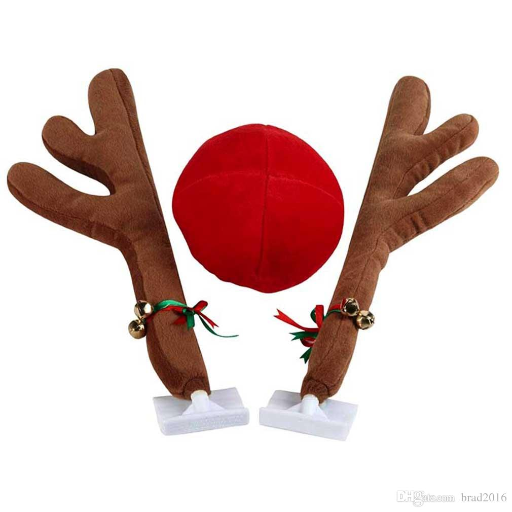 CHRISTMAS Reindeer Antlers Car Costume Antlers & Nose Set Auto ...