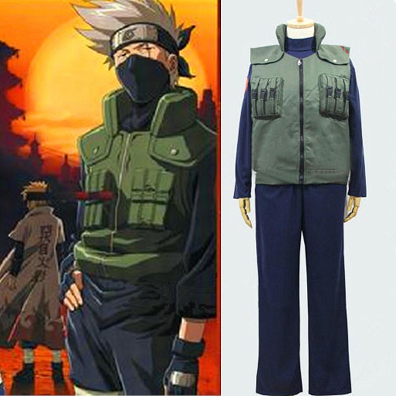 Cool Cosplay Kakashi Costume Naruto Hokage Role Playing ...