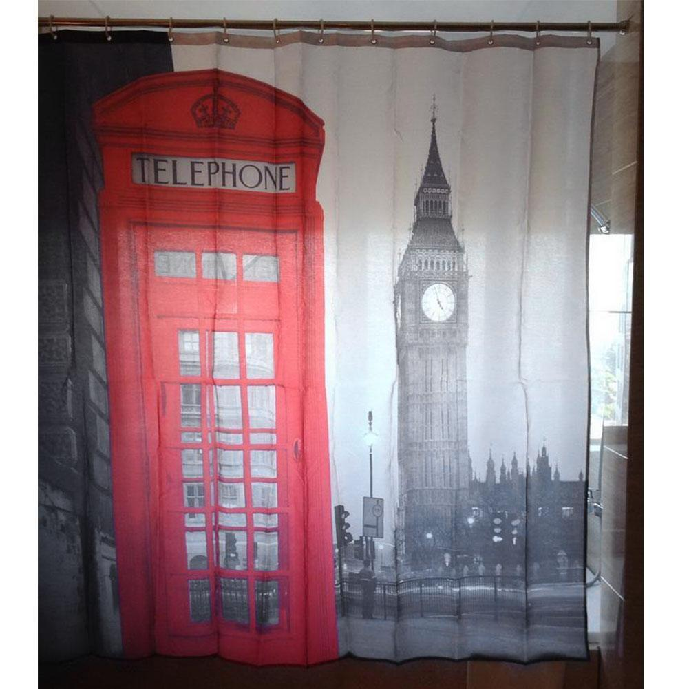2017 london big ben pattern polyester shower curtain waterproof bath bathroom decor from aaa1413 - Bathroom accessories london ...