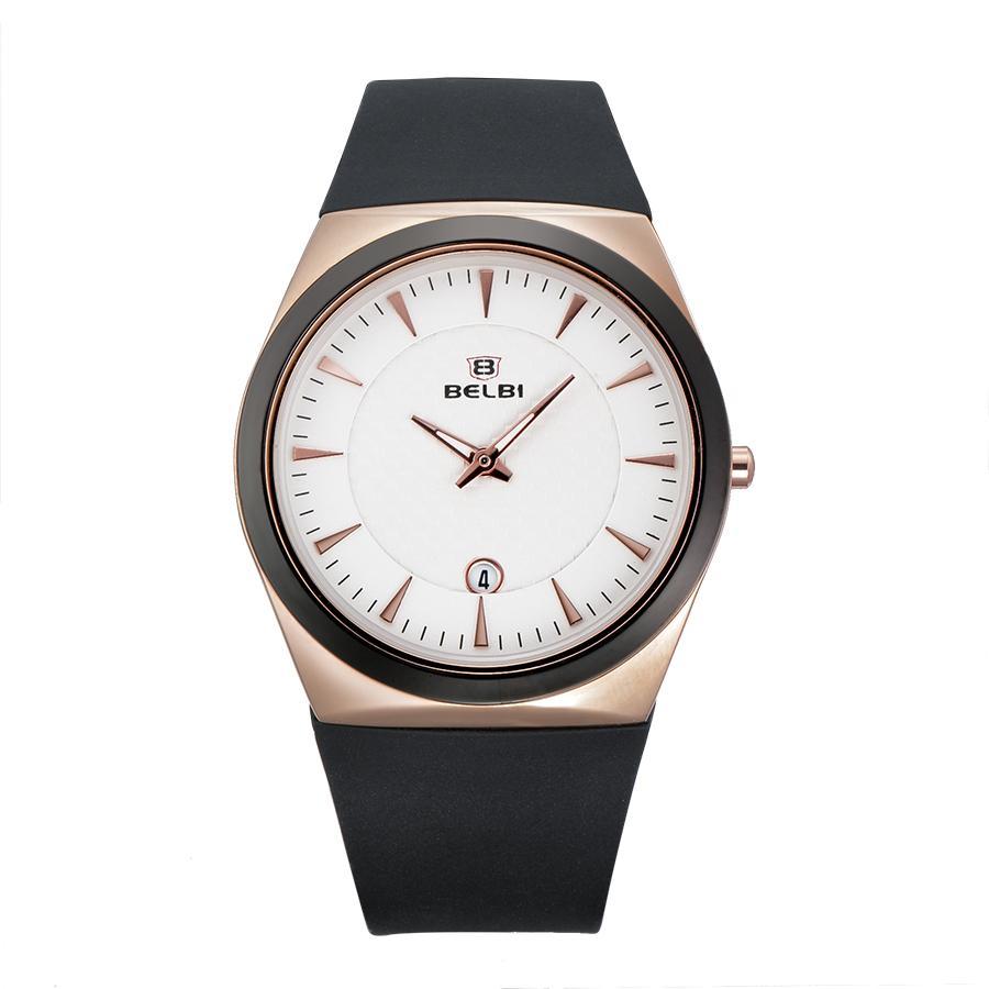 cool black quality quartz wrist silicone wrist