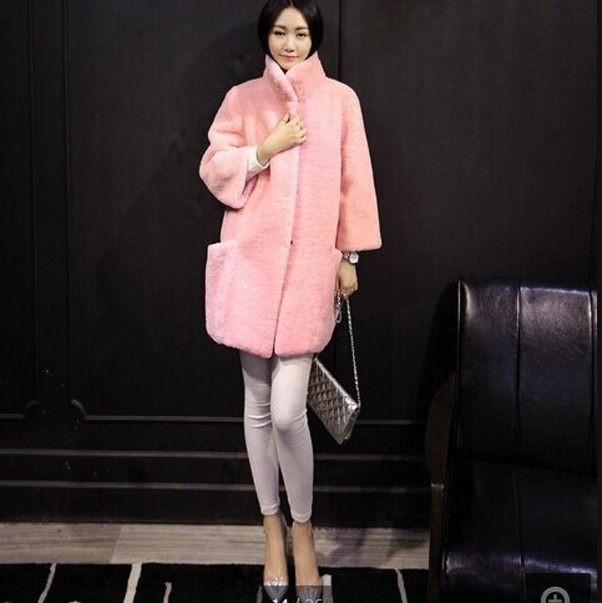 Wholesale-Australia Merino Sheep Fur Long Coat Women Sheepskin ...