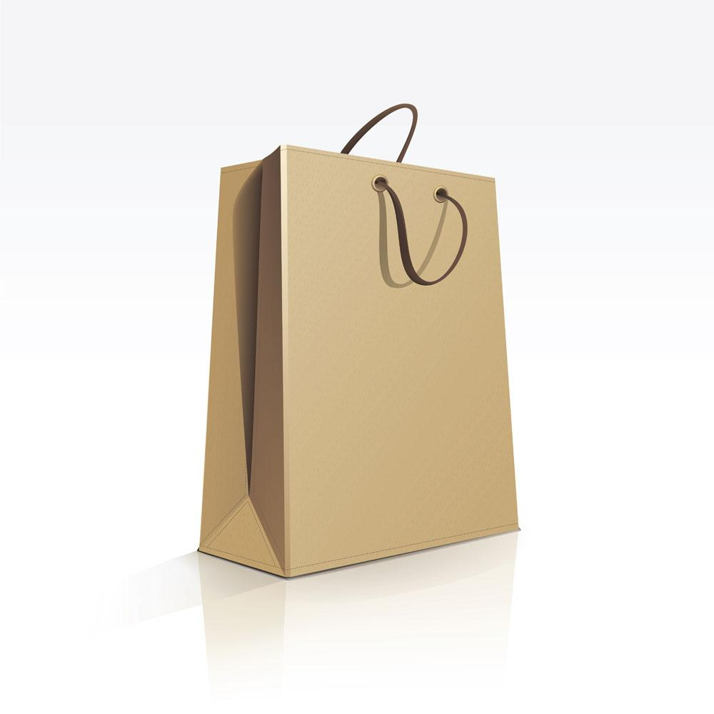 Paper bag yellow - Recyclable Kraft Paper Bag With Drawstring Brown Paper Paper Shopping Bag Three Sizes