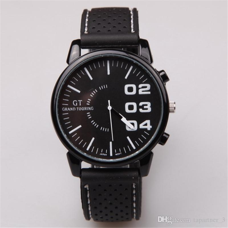2016 cool black quality quartz wrist mens