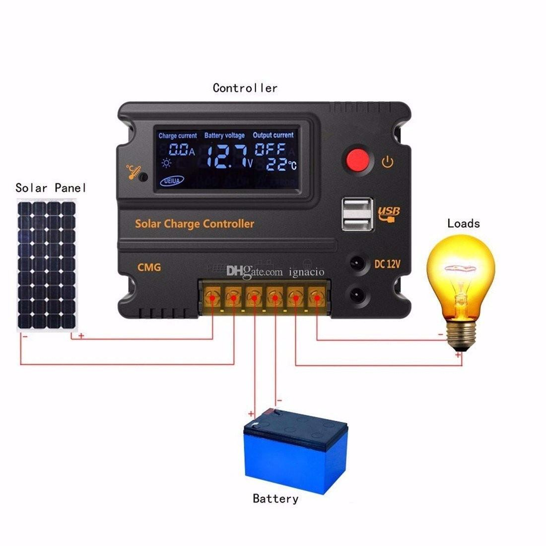 how to connect the solar charge controller and inverter