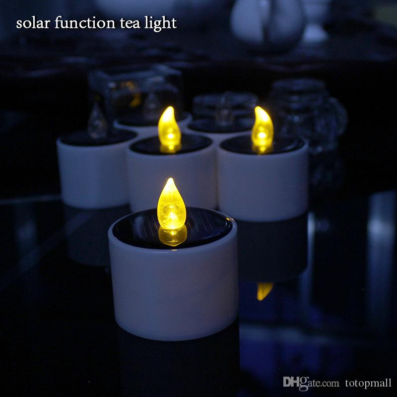2017 solar electronic lamp led candle night light. Black Bedroom Furniture Sets. Home Design Ideas