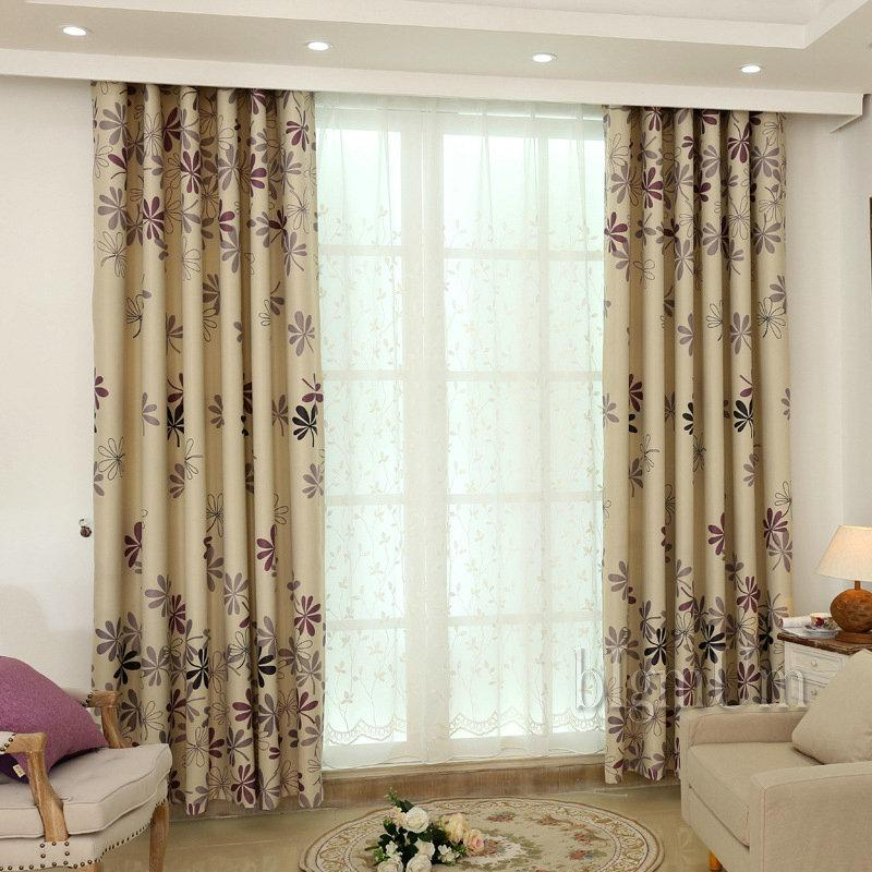 2017 new arrival rustic flowers window curtains for living for Latest window treatments 2017