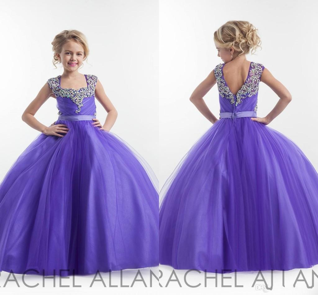 Rachel allan 2016 girl pageant dresses capped sleeves for Dresses to wear to a wedding for teens