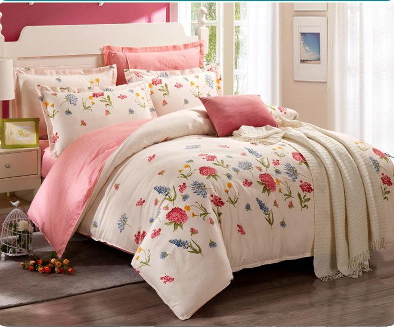 bedding sets 100 cotton factory wholesale floral and checked country style queen king size full. Black Bedroom Furniture Sets. Home Design Ideas