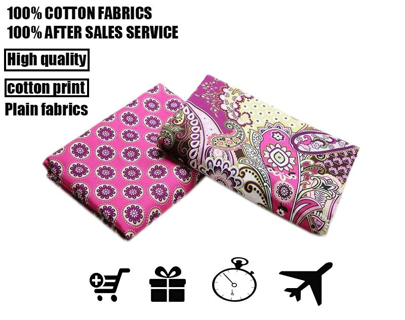 fabric vb cotton cloth,cotton fabrics textile fabrics DIY ,Big pink flowers fashion clothing ordering fabrics, high mass density