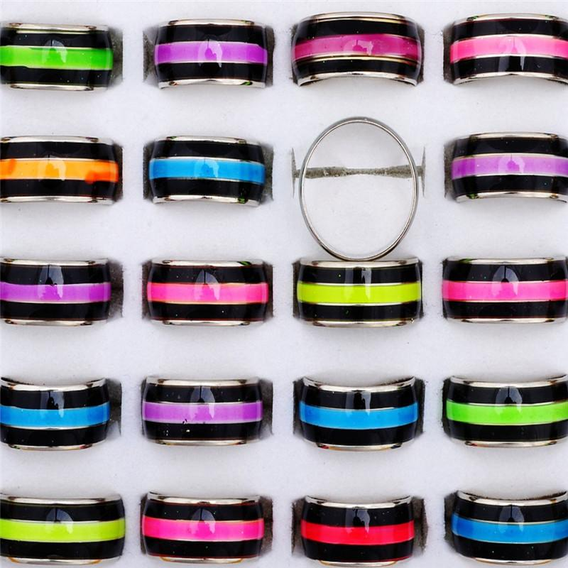 2016 Bijoux Fashion sentiment émotion Bijoux Mood Ring Couleur Coloré Déclaratio