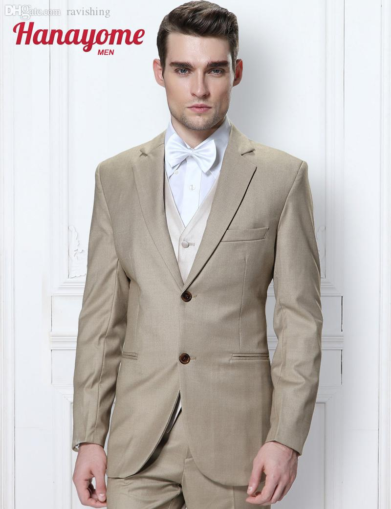 2017 Wholesale Khaki Suit Men Men'S 2016 Summer Mens Prom Tuxedos