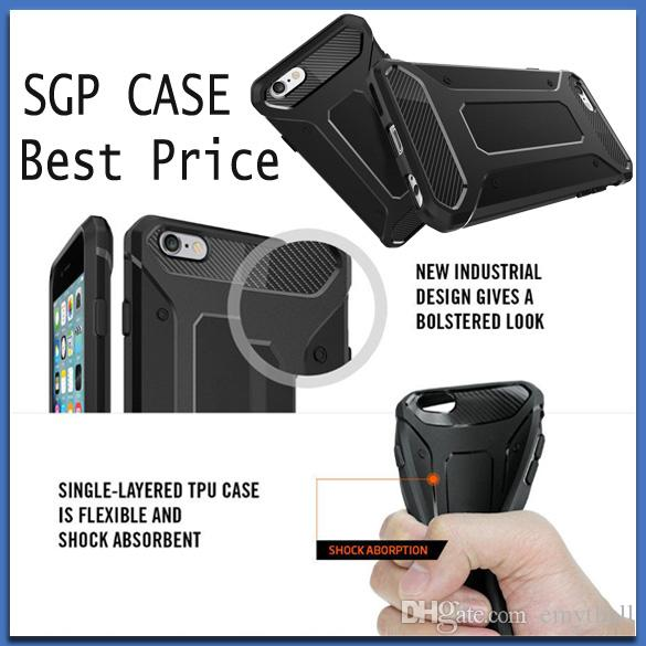 SGP Case Iphone 6 Plus TPU Carbon Fiber Cases Shockproof Cover Galaxy S7 S6 Edge J1 J3 J5 J7 2016 A5 A7 A8 Note 5 7