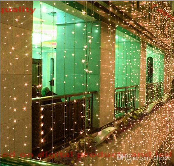 2016 New Christmas Kitchen Curtains Light 8*3m/8*4m 800/1024LED Ultra Bright LED String For ...