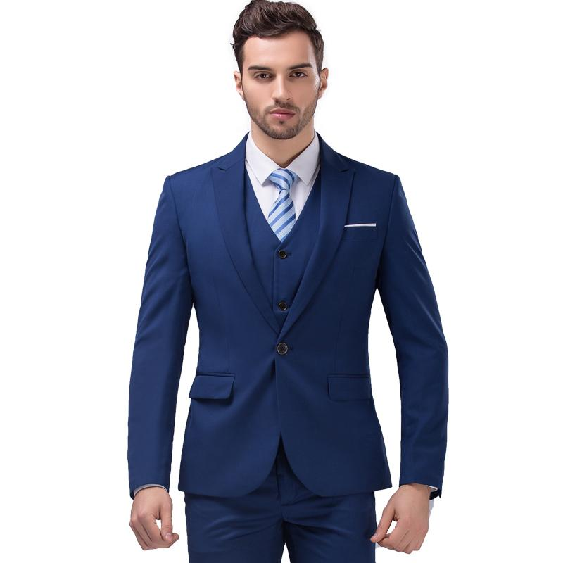 Online Cheap Royal Blue Suit Business Suits Suit Korean Version Of ...