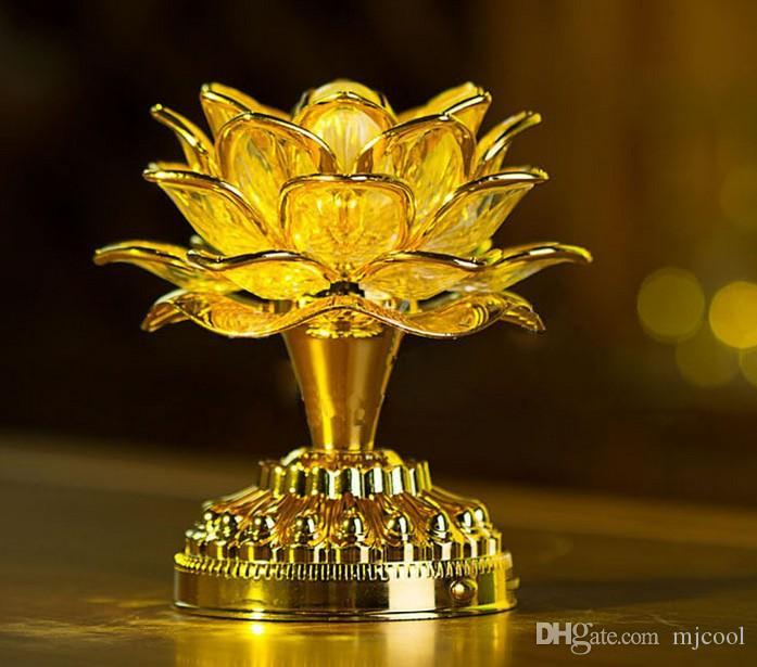 Best Gold Battery Buddha Music Speaker Light Flower Fancy