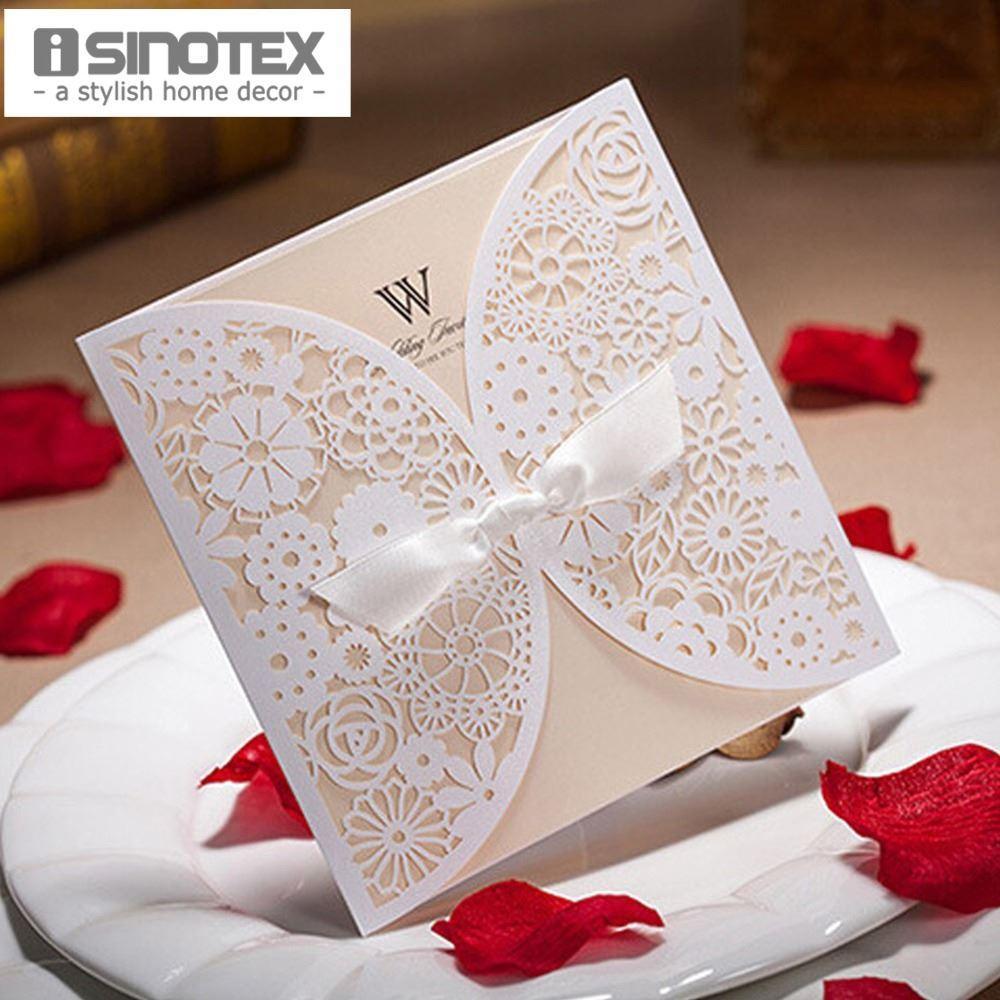 wholesale elegant hollow laser cut wedding invitations card with, invitation samples