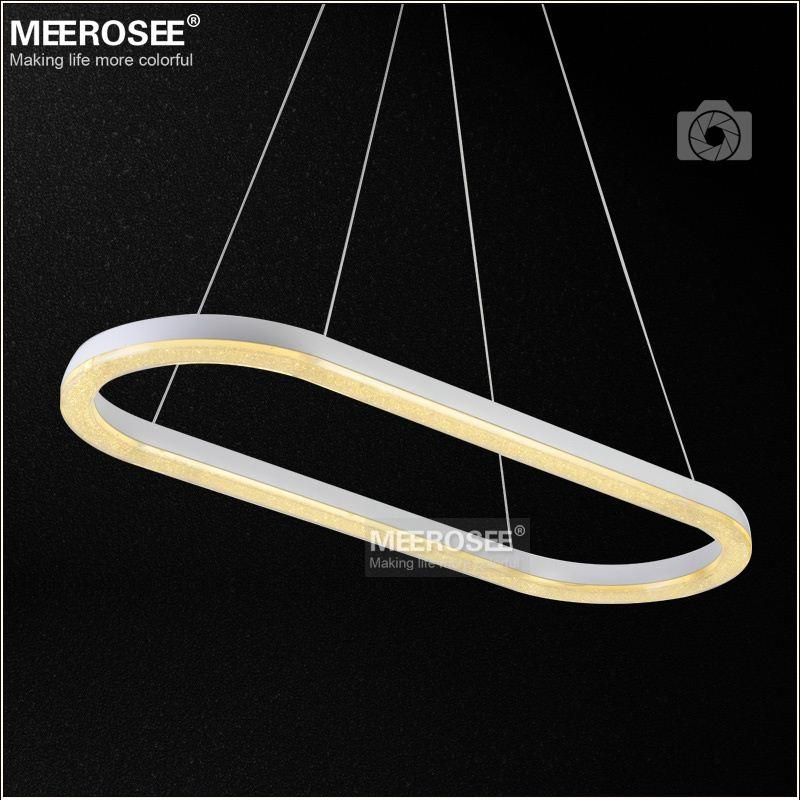 Oval shape led crystal pendant light fixture led crystal for S shaped track lighting