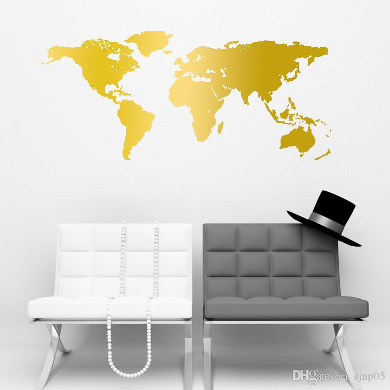 World Map Wall Stickers DIY Removable PVC Vinyl Art Room Map Wall Sticker  Decal Mural Home Decor DIY World Map Sticker Wall Stickers World Map DIY World  Map ...