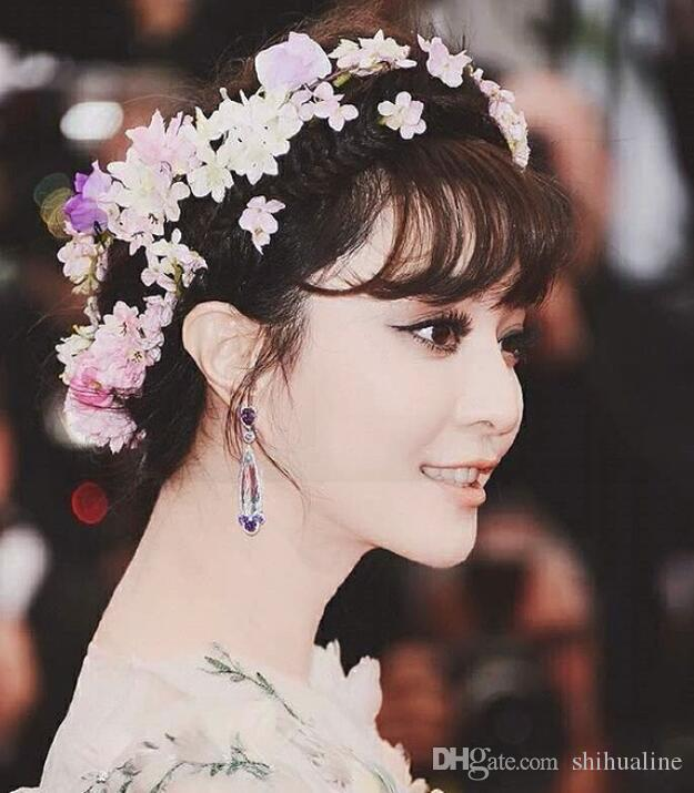 Fan Bing Hua Fairy Bride Hydrangea Flower Hairpin Wedding Dress Headwear Seaside Holiday Hair Ornament Ornaments Wreath Head Online With