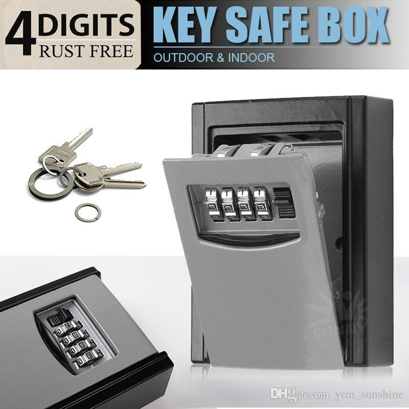 OUTDOOR HIGH SECURITY WALL MOUNTED KEY SAFE BOX CODE SECURE LOCK ...